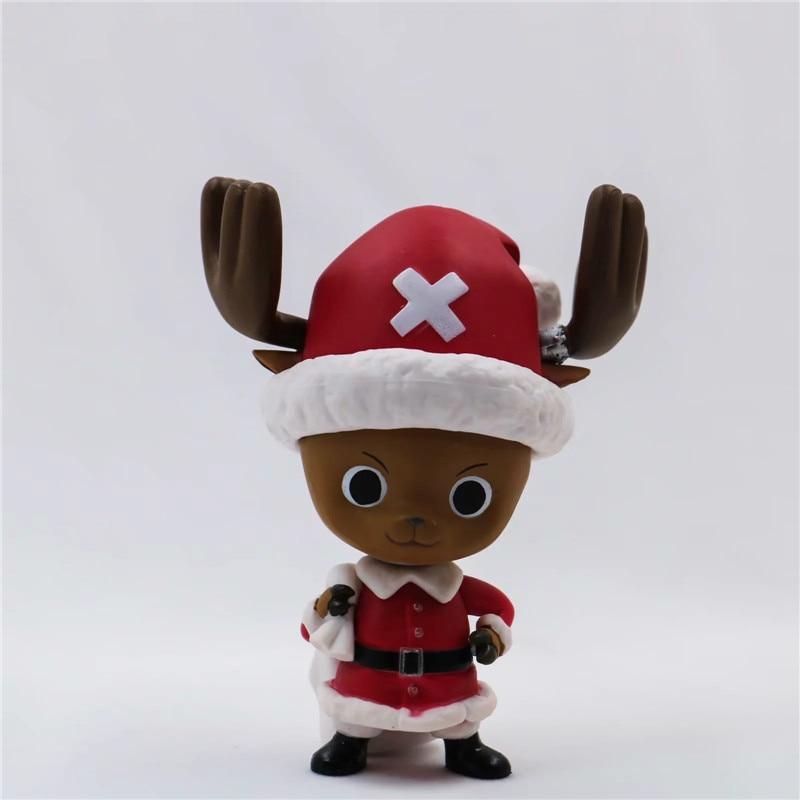 New Christmas One Piece Chopper Action Figure Toys Kawaii Anime Xmas Sled Chopper Figuras Dolls Brinquedos Gift 10cm  (8)