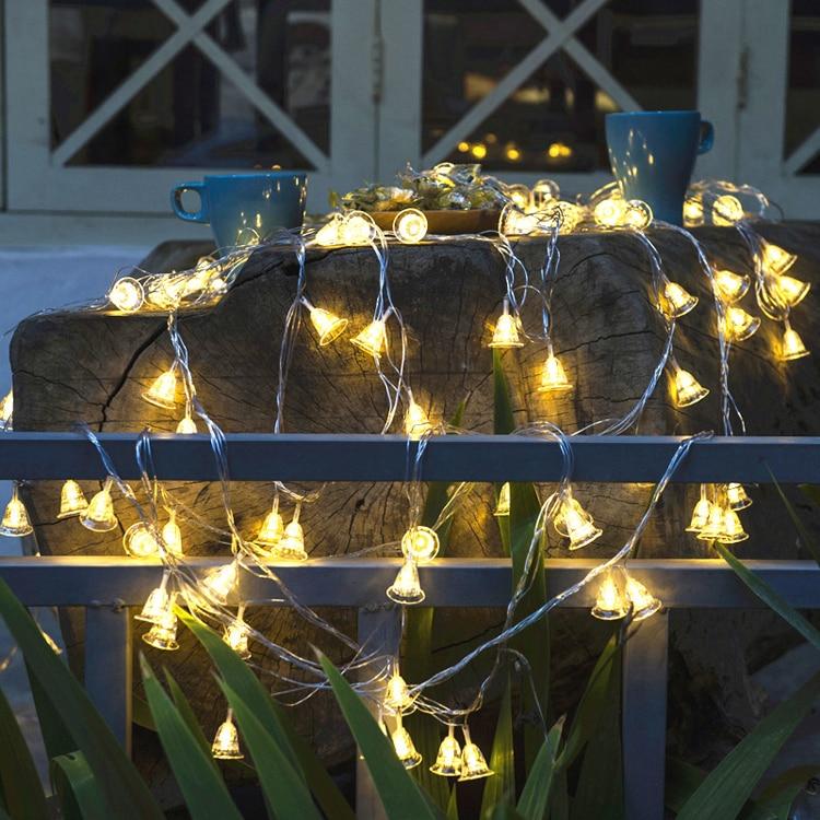 e62629d0ca 10 M 50 Led Luzes Da Corda do Sino de Tinir Fada Decorativa da festa de  Casamento Luzes de Natal Guirlanda De Natal Cortina Decoração Home decor