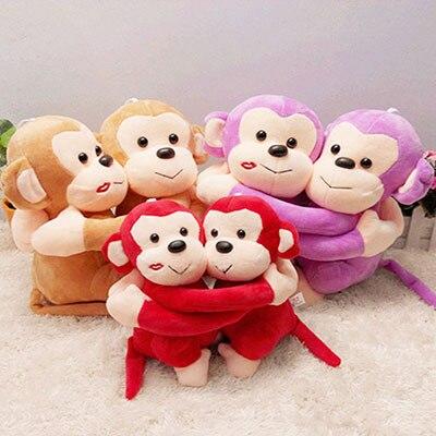 Stuffed animal 20 cm/pair lovely hug sweetheart monkey plush toys stuffed monkey toys monkey plush for kids birthday gift