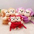 Animais empalhados 20 cm/pair lindo abraço querido macaco brinquedos de pelúcia macaco de pelúcia macaco brinquedos de pelúcia para as crianças presente de aniversário