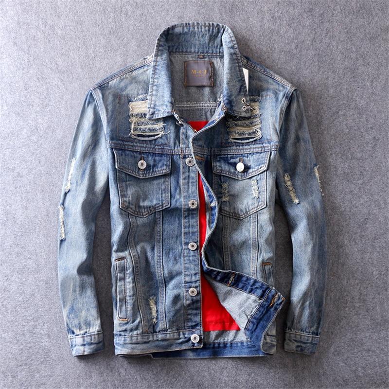 Hop Agujero Para Abrigo Hombre Impresión Jeans Primavera Cráneos Tops Chaqueta Otoño Hip Vaquera Hw117 Cuero Parche Streetwear 2019 SpqwxCzf