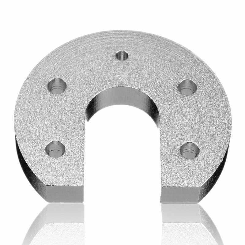 Reprap Kossel Untuk E3D V6 Hot End Aluminium Alloy Alur Gunung CNC 3 D Printer Bagian CNC Blok Panas Ujung Tetap Melingkar pemasangan