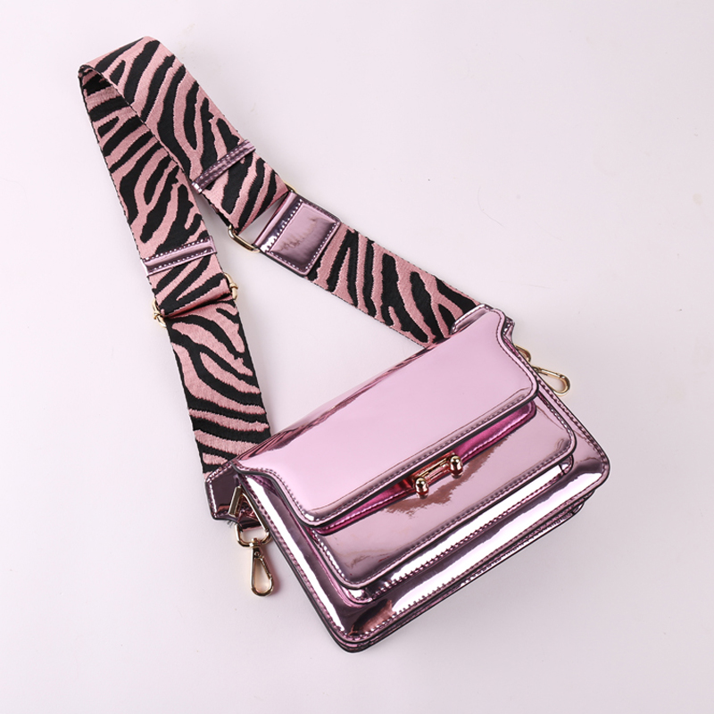 2019 Brand Fashion Show Women Bags Genuine Leaather Female Flap bag Chain Women Purple Shoulder Bags