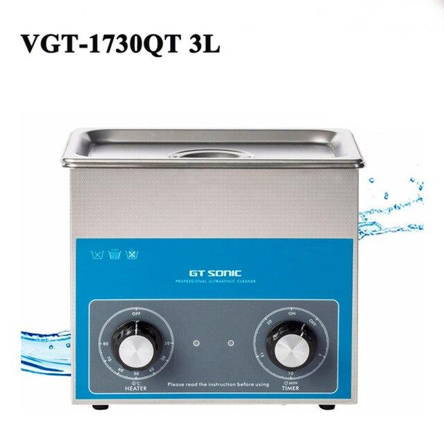 3L nettoyeur à ultrasons minuterie réglage de la température bain de réservoir en acier inoxydable pour Machine de nettoyage de pièces chirurgicales électroniques