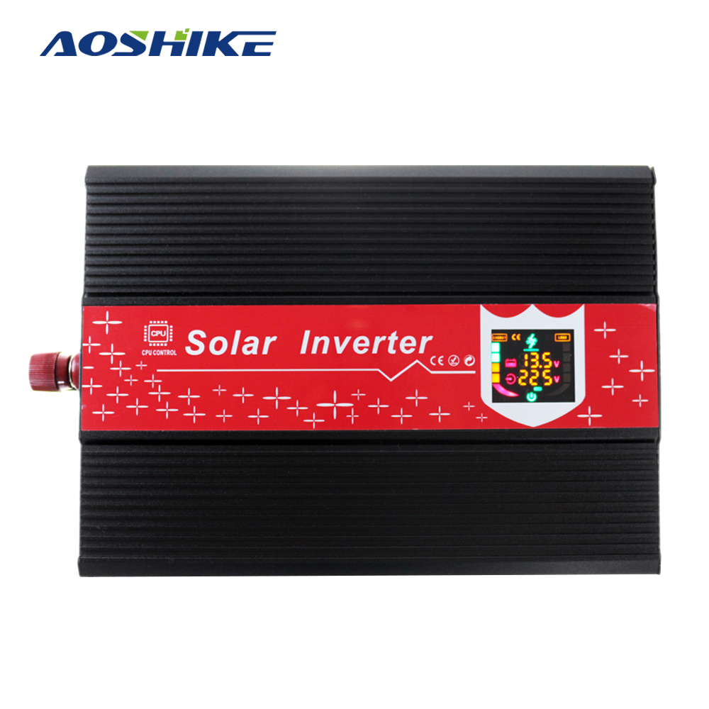 Aoshike 1000W Car Inverter DC12V to AC220V Modified Sine Wave Automobile Power Inverter LED Display Panel CE Certification high gloss lacquer kitchen cabinet mordern lh la095