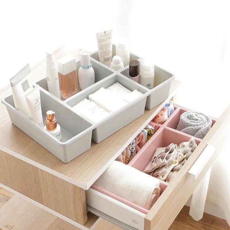 AIYOWEI@YW Clothing Organizer Sundries Storage Box Plastic Makeup Cosmetic Holder Container Desktop Office Organizer S057