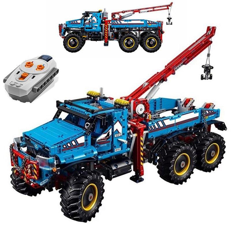 Technic 6x6 Alle Gelände Abschleppwagen Fernbedienung Große Motor Forschung Explorer 2 in 1 Technic auto Modell Blöcke Geschenk Sets-in Sperren aus Spielzeug und Hobbys bei  Gruppe 1