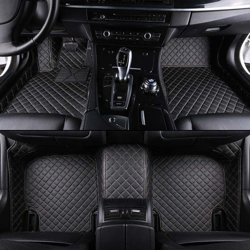 HLFNTF Personnalisé de voiture tapis de sol Pour land rover Rover Range Evoque Sport Freelander Découverte 3 4 Defender LR voiture accessoires