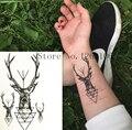 ¡ VENTA CALIENTE! 10x6 cm Moda Pequeños Ciervos Lindos Impermeable Etiqueta Engomada Del Tatuaje Temporal