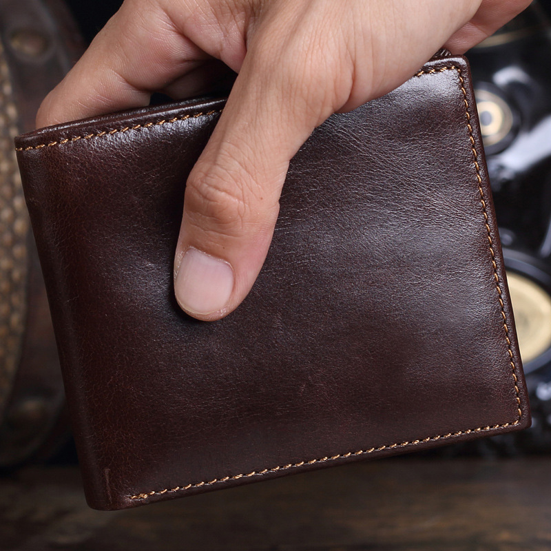 Oil Wax Genuine Leather Mens Wallet Small Brand Vintage Simple Money Bag Coin Purse Slim Cow Leather Wallets Men Card Holder 2017 new wallet small coin purse short men wallets genuine leather men purse wallet brand purse vintage men leather wallet