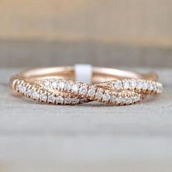 Popüler 925 Anillos Gümüş Yüzük Düğüm Parmak Yüzük Kadınlar Için Düğün noel hediyesi Anillos Gümüş Kişiselleştirilmiş 14k Takı