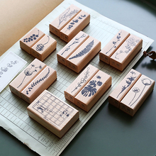 Vintage Plant series wood stamp DIY wooden rubber stamps for scrapbooking stationery standard