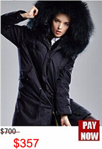 Factory wholesale price Women's Vintage Retro Fur Hooded Military Parka Jacket Coat with pink lined and collar fur mr 25