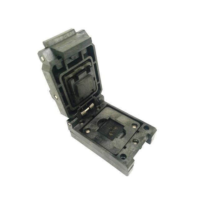 BGA96 Clamshell ic chip adapter burn in test socket pitch 1.0mm BGA96(11*11)-1.0-CP01NT VFBGA96 bga96 flip turn 96 shrapnel burning seat pitch bga96 socket 0 8 block aging test seat development board free shipping