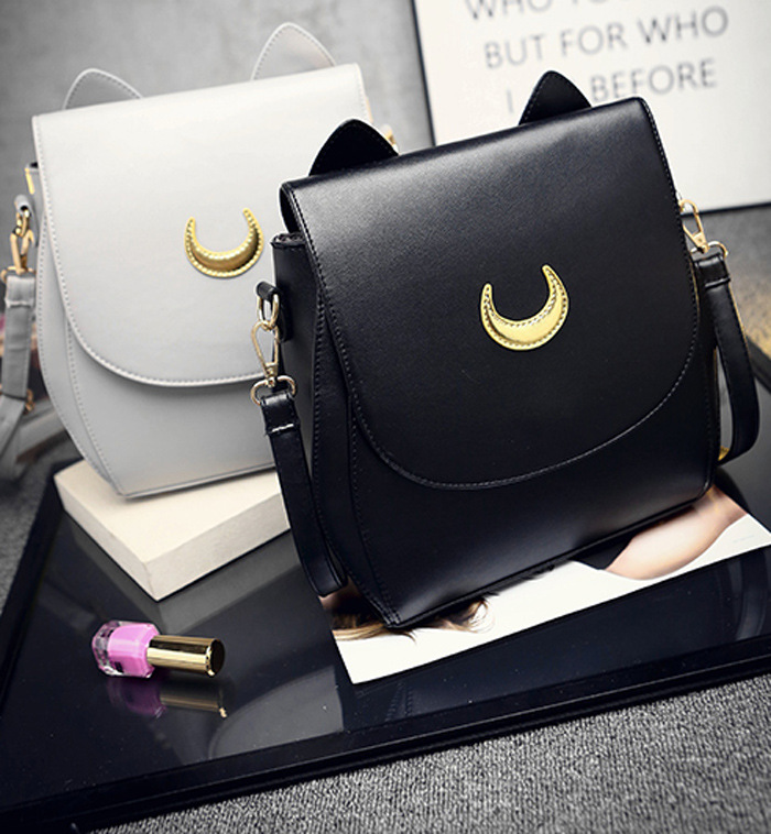 SWDF Summer Sailor Moon Ladies Handbag Black Luna Cat Shape Chain Shoulder Bag PU Leather Women Messenger Crossbody Small Bag мужские часы festina f20271 1