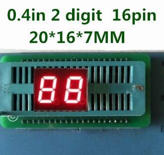 """0,4 """"0.4in Rote Led-anzeige Digital Rohr Gemeinsame Kathode 16 Pin 2 Bit 7 Segment, In Lager, Freies Verschiffen"""
