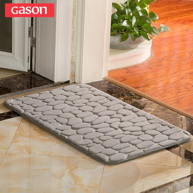 GASON absorción de agua alfombra de baño alfombra Shaggy de espuma de memoria de alfombra de baño conjunto de la puerta de la cocina piso Mat alfombra de baño no slip