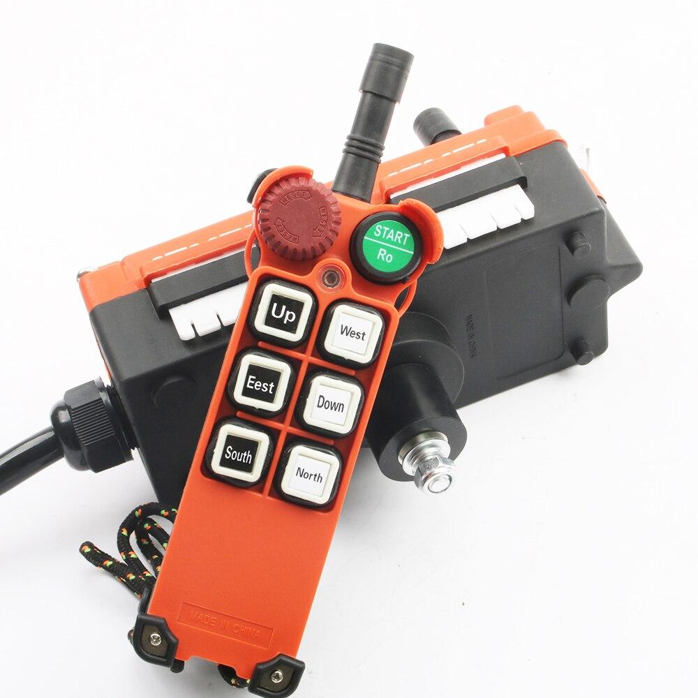 380V 12V 24V 220V télécommande industrielle commutateurs grue grue contrôle ascenseur grue 1 émetteur + 1 récepteur F21-E1 - 2