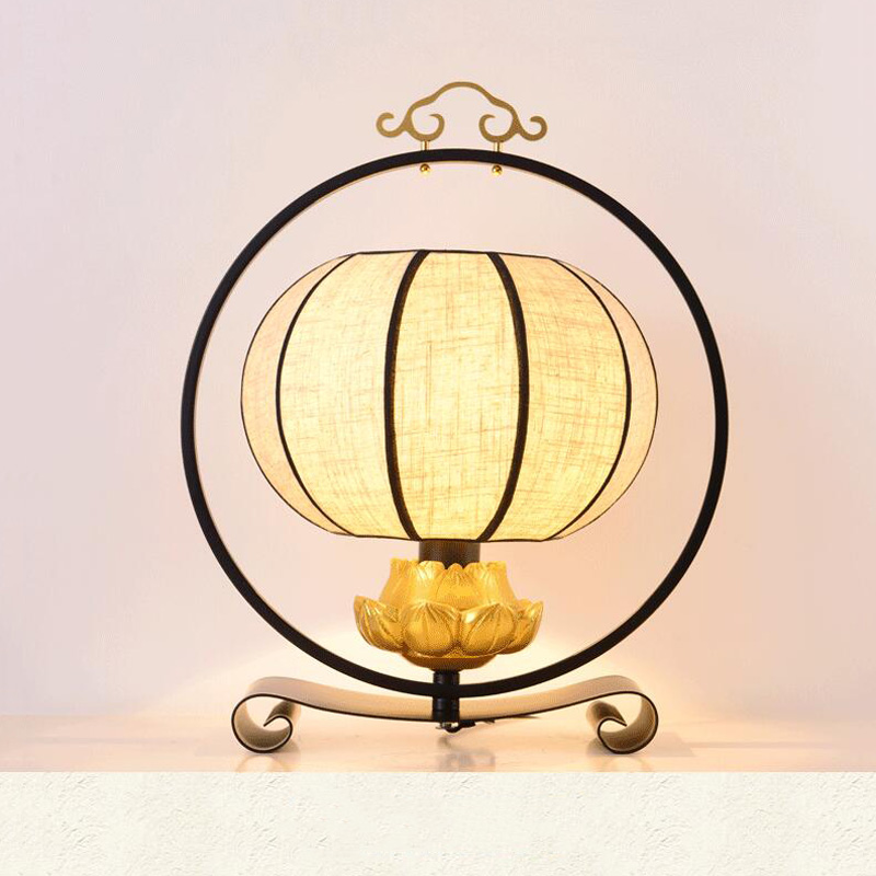 New Chinese desk lamp bedroom living room bedside lamp cloth light retro loft decoration table light study hotel office lampNew Chinese desk lamp bedroom living room bedside lamp cloth light retro loft decoration table light study hotel office lamp