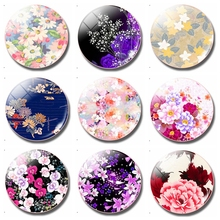Flower Series 30MM Fridge Magnet, Handmade Glass Magnetic Refrigerator Stickers, Creative Home Decor Kitchen Accessories painting the bird 30mm fridge magnet cute animals refrigerator magnet glass dome magnetic stickers creative home decor