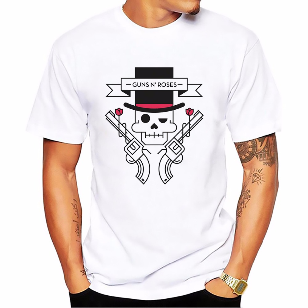Guns N Roses t shirt men jollypeach brand NEW comfort casual tshirt homme Short Sleeve Plus Size mens white T-shirt 9 colors
