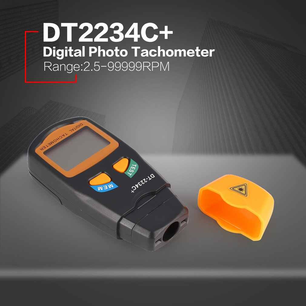 DT2234C + Handheld LCD Digitale Mini Non-contact Laser Photo Toerenteller RPM Snelheid Meting Meter Snelheidsmeter 2.5 ~ 99999RPM