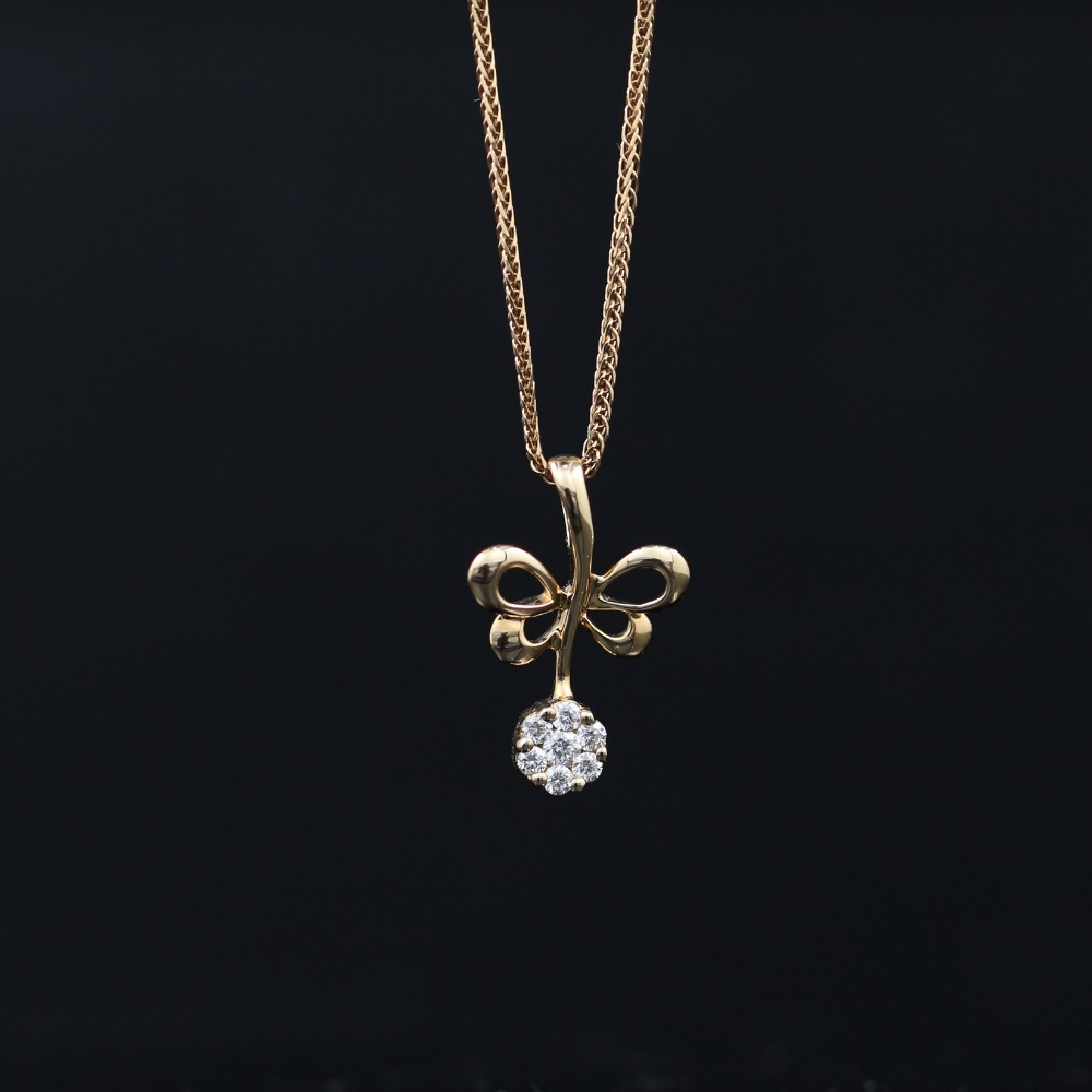 LASAMERO Halo 0.03CT 18k Gold Round Cut Square Center Pave Set Natural Diamond Pendant Necklace Chain Women Fine Jewelry