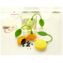 1PC Tea Filter Tea Infuser Teapot Teabags Tea Strainer Silicone Sunflowers Shape Kitchen Gadgets Accessories opening promotion creative silicone tea bag tea pot shape tea filter safely cleaning infuser tea tool