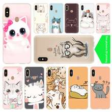 Cute Cat Kitty Fishes Space Meow soft Silicone TPU Case For Xiaomi Redmi 3 4X 4a 5 Plus 7a 5a S2 6a 6 Note 5 6 4 7 5 K20 Pro(China)