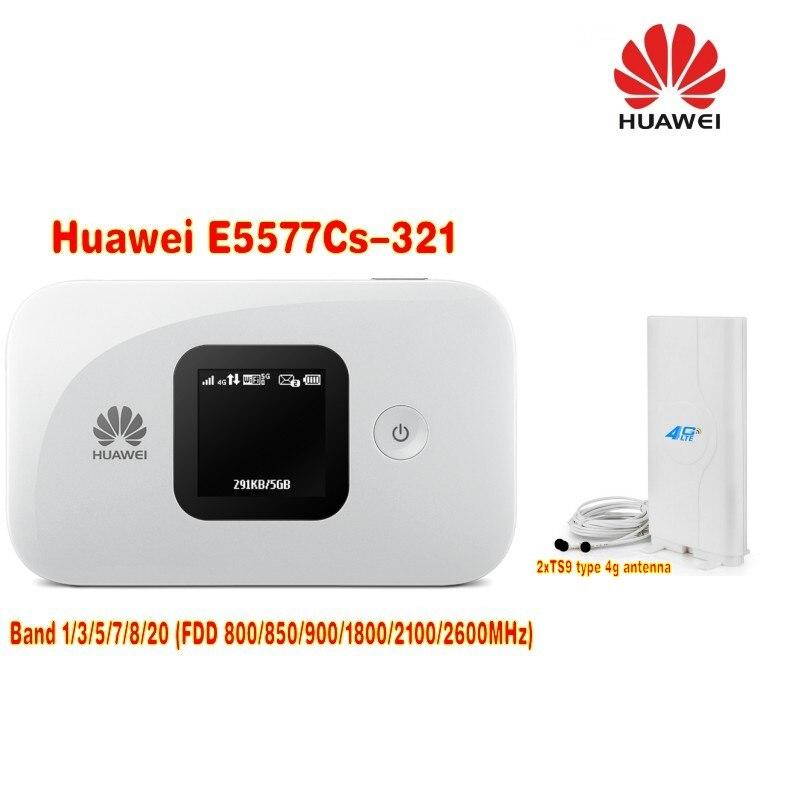 Unlock 4G Wireless Router LTE Mobile WiFi Router with SIM Card Slot Huawei E5577Cs-321 3000Mah plus 4G 49DBI TS9 antenna huawei 4g router huawei e5573 portable lte 4g wireless router with sim card slot 4g signal amplifier antenna 49dbi ts9