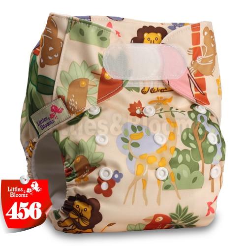 [Littles&Bloomz] Один размер многоразовые тканевые подгузники Моющиеся Водонепроницаемые Детские карманные подгузники стандартная застежка на липучке - Цвет: 456