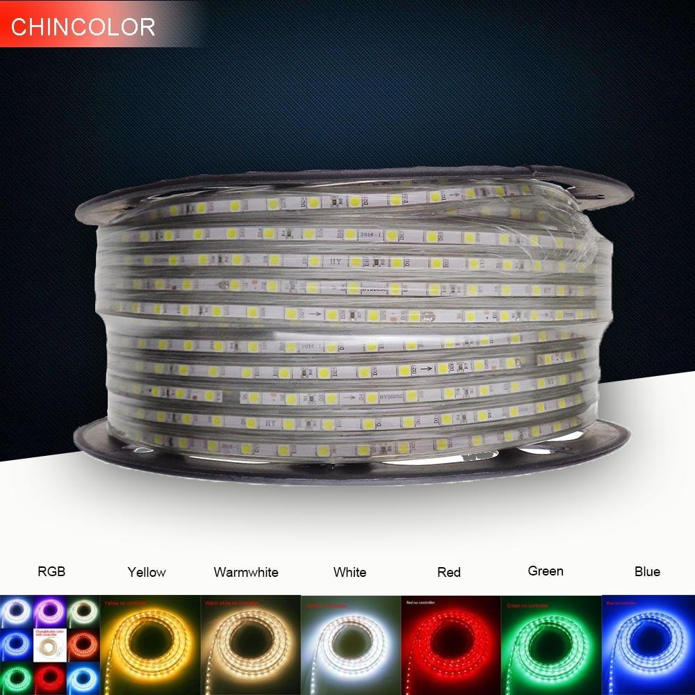 Lampa cu LED-uri AC220V cu LED-uri SMD 5050 Fâșia cu LED-uri - Iluminat cu LED