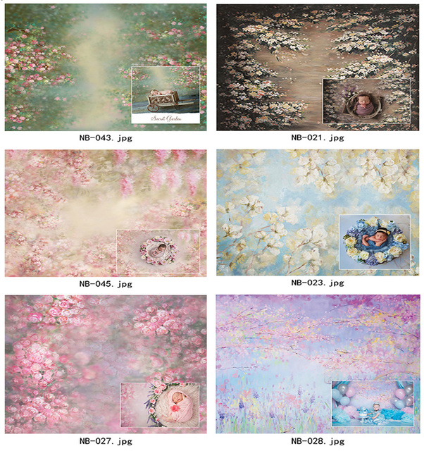 Art fabric photography backdrops newborn baby shower decorations photocall background props vinyl photographic backgrounds
