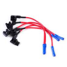 CITALL 5pcs Car Auto Add-A-Circuit Fuse Tap Adapter Holder Low Profile Mini APS ATT Micro Blade Fuse