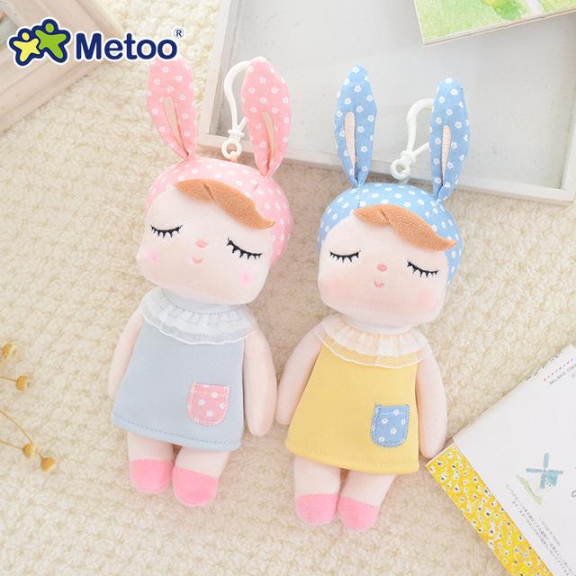 Stuffed Toys Plush Animals Soft Baby Kids Toys for Children Girls Boys Kawaii Mini Angela Rabbit Pendant Keychain