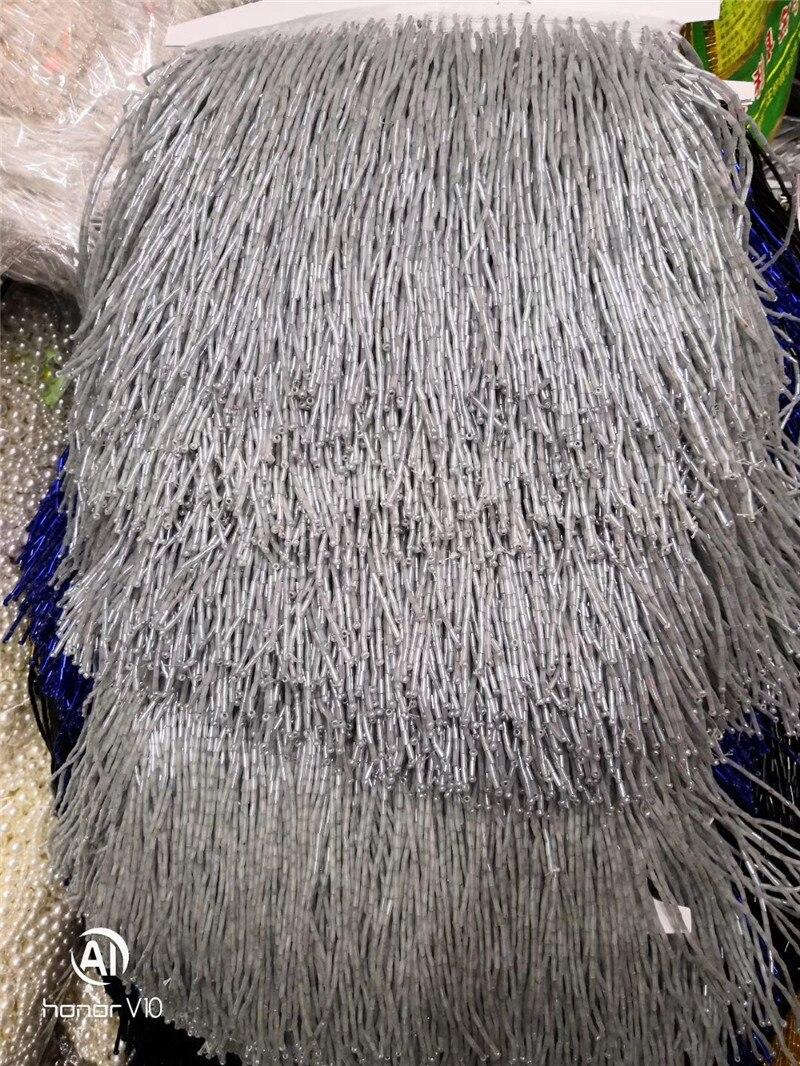 15 cm أعلى بيع 5 ساحات مطرز شرابة هامش BZL 19.11817 الخرز أنبوب لفستان الديكور-في قماش من المنزل والحديقة على  مجموعة 3