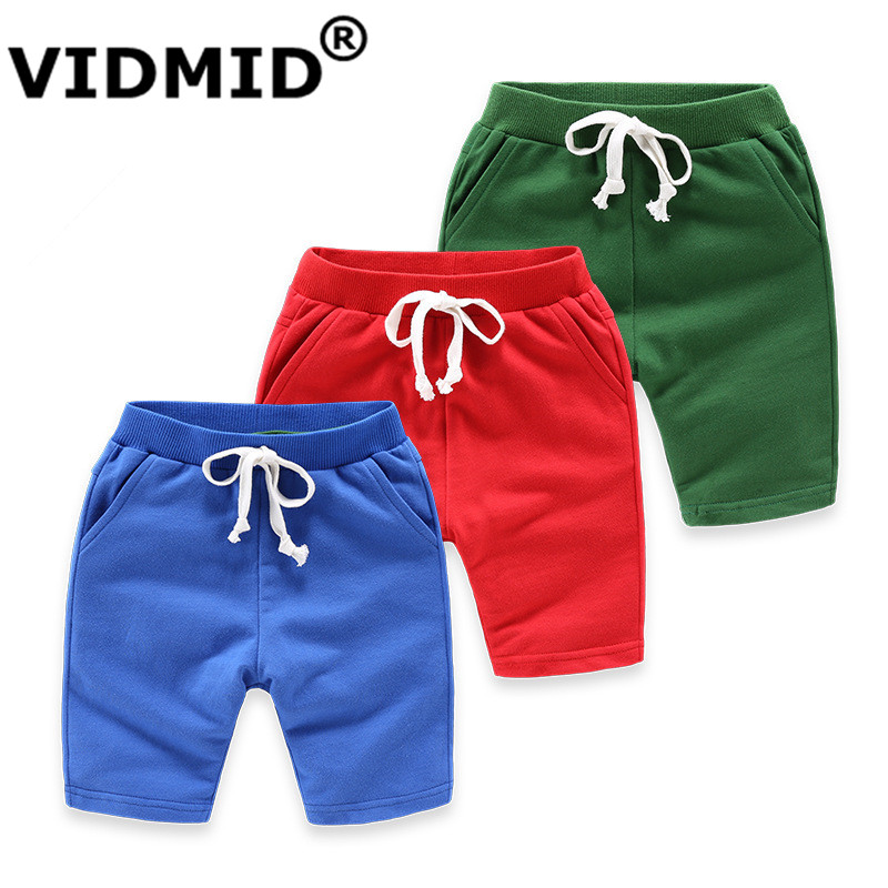 VIDMID KIDS boys girls colorful   shorts   summer fashion cotton trousers boys beach   shorts   chilren's 2-10 years trousers 4018 05