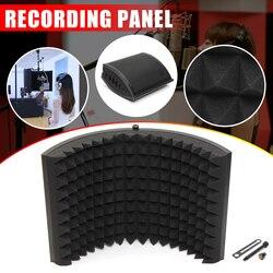 Liga dobrável microfone isolador acústico escudo espuma acústica painel profissional estúdio painel de isolamento acústico