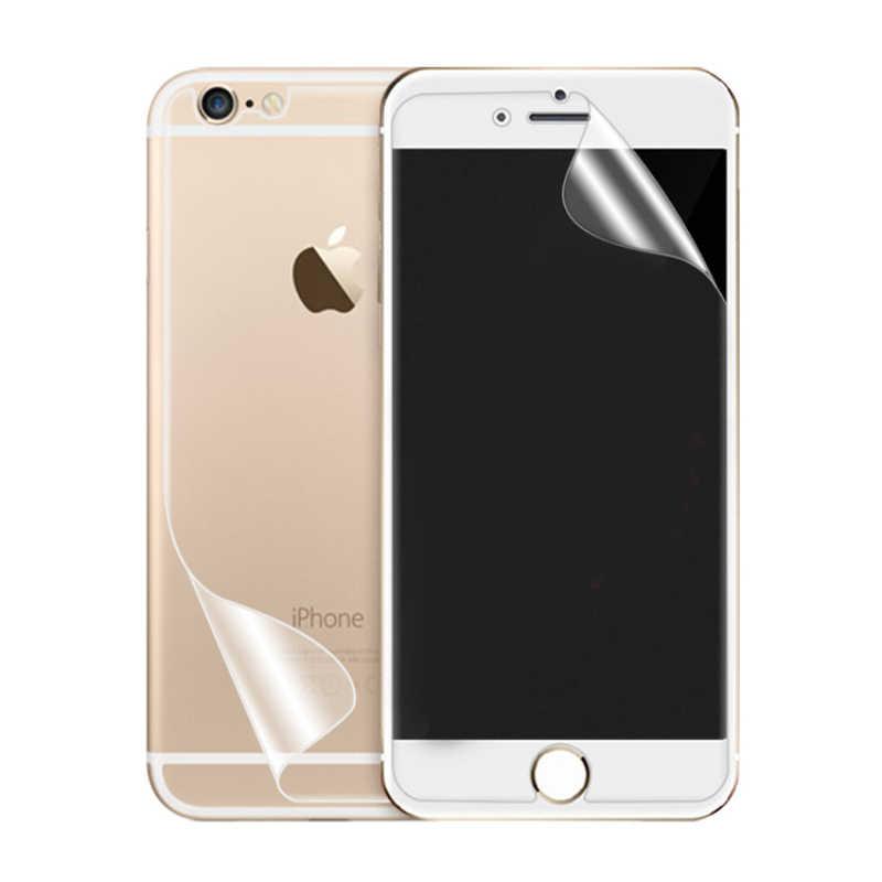 ل iphone 6s 6s plus HD واضح الجبهة LCD واقي للشاشة الغطاء الخلفي واقية فيلم Pet درع ecran الهاتف المحمول اكسسوارات