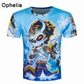 2017 Trend style T-shirt Men/Women 3d Print robot Deadpool Comic Hero tee Creative Cartoon TShirts Summer Tops Fashion 3d shirts