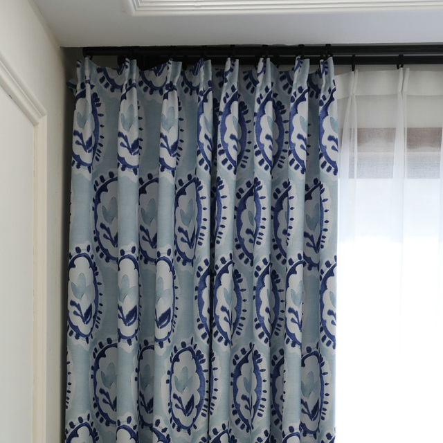 Readymade blackout ink painting children curtains, #LR lvduo ...