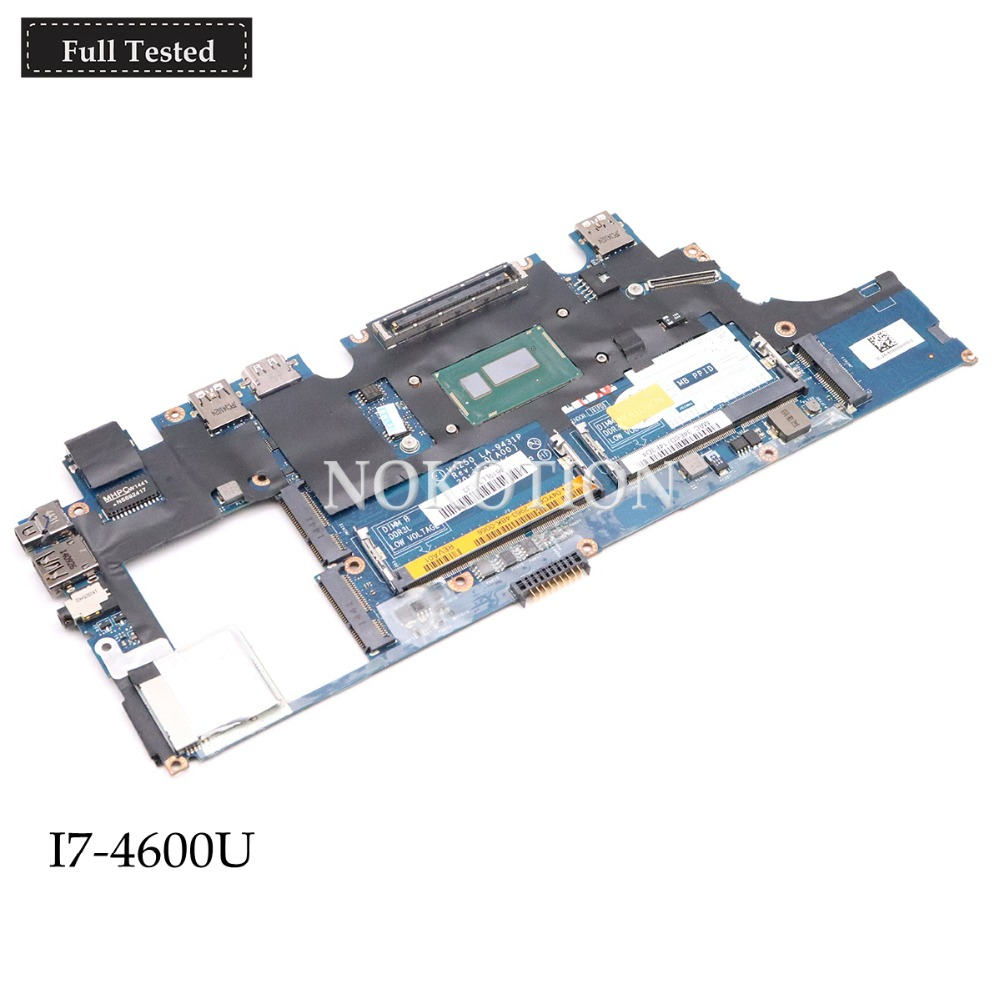NOKOTION CN-0X9Y17 0X9Y17 X9Y17 VAZ50 LA-9431P for Dell Latitude E7240 laptop motherboard <font><b>I7</b></font>-<font><b>4600U</b></font> <font><b>Intel</b></font> HD Graphics image
