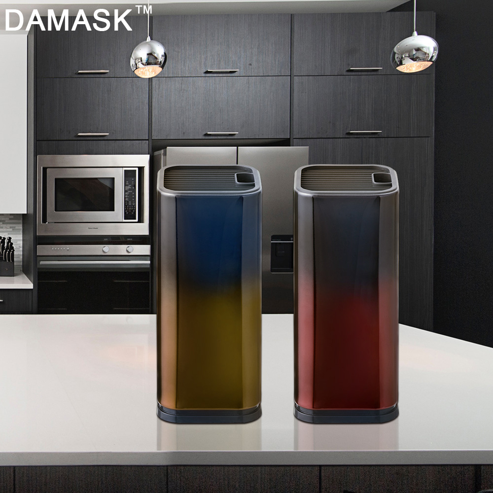 Damask Master Kitchen Knife Stand Stainless Steel Knife Block Knife Holder Fashion Outlook Kitchen Knive Partner Kitchenware