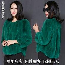 New autumn and winter natural rex rabbit fur coats women O neck short slim fur coat outerwear plus size free shipping g7598