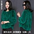 Nuevo otoño y del invierno natural rex rabbit fur coats mujeres O cuello de piel delgada corta prendas de vestir exteriores más tamaño envío libre g7598