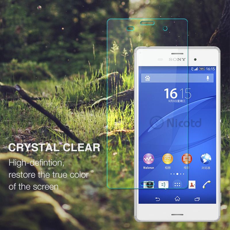 Nicotd Tempered Glass For Sony Xperia Z3 Screen Protector 9H 2.5D Phone On Protective Glass For Xperia Z3 D6633 D6643 glass Film (1)