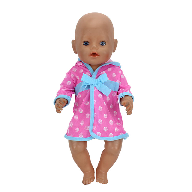 Bathrobe Fit For 43cm Zapf Baby Born Doll  17Inch Reborn Baby Clothes