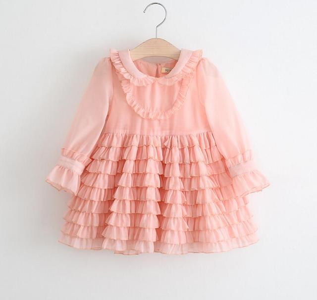 Los nuevos Bebés de Primavera Moda Rosa Vestidos de La Torta ...