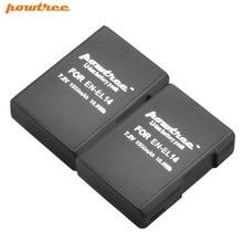 2X 7.2V 1500mAh Li-ion EN-EL14 Rechargeable Battery for Nikon P7200 P7700 P7100 D5500 D5300 D5200 D3200 D3300 D5100 D3100 L10 4pcs en el14 1 2ah camera battery for nikon df d90 d300 d5300 d5200 d5100 d3300 d3200 d3100 for coolpix p7100 p7200 p7700 p7800
