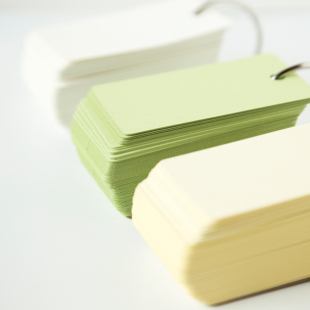 muji style empty page kraft cover candy color paper memo pad 100 pages loose leaf notepad